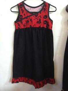 Rocker Chick Dress Size 9  10  12  14 by babybatboutique on Etsy