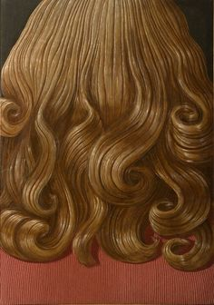 Domenico Gnoli's Curly Red Hair, 1969, one of the works on view at Luxembourg & Dayan.