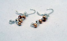 Gold and Silver Beaded Hope Earrings  by SimpleSilverLinings