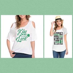 Who is ready for St Patrick's Day?! Wait no longer- each of these looks are $24.99 free US shipping comes in sizes S M L comment or direct message me to get yours!!!