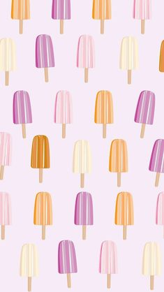 Ice Lolly - Popsicle Art Print by yleniapizzetti Cute Wallpaper Backgrounds, Pretty Wallpapers, Aesthetic Iphone Wallpaper, Cool Wallpaper, Mobile Wallpaper, Aesthetic Wallpapers, Backgrounds Free, Screen Wallpaper, Phone Wallpapers