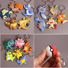 Quality Anime Pokemon Go Key Ring Pikachu Keychain Pocket Monsters Key Holder Pendant Mini Charmander Squirtle Eevee Vulpix Figures with free worldwide shipping on AliExpress Mobile 3d Pokemon, Pikachu, Charmander, Pokemon Stuff, Best Anime Shows, Popular Pokemon, Totoro, Key Rings, Just For You