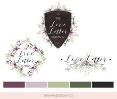 Love Letter Paper Co V2 Ready Made Logo | Sarah Made Design Co