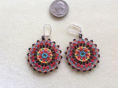Mandala Beaded Earrings The Eye Catcher by Bead4Fun on Etsy