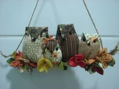 Família de corujinhas