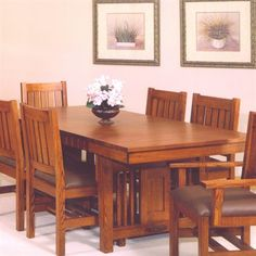 Tree Crowns Craftsman Dining Table For the Home