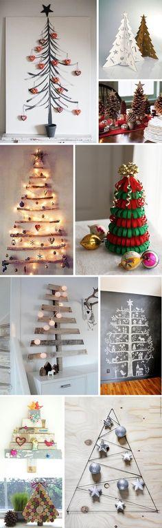 Árvore de Natal não precisa ser de plástico! ;)