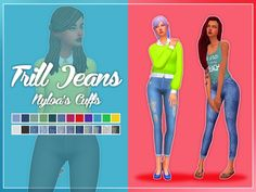 Trilled Jeans Cuffed at Nolan Sims via Sims 4 Updates Check more at http://sims4updates.net/clothing/trilled-jeans-cuffed-at-nolan-sims/