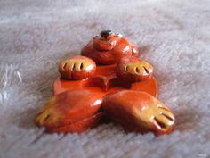Mały Miś  7 cm Materiał - glina Garlic