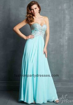 Night Moves 7019 Strapless Sweetheart Chiffon Plus Size Prom Gown