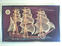 Check out this item in my Etsy shop https://www.etsy.com/listing/203414794/large-vintage-ship-string-art-3d-wall