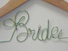 1 DIY Personalized Wedding Hanger, Custom Wedding Hanger Wire, Personalized Hanger Wire, Wire Name on Etsy, $6.95