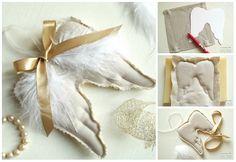 Diy Christmas Ornaments, Felt Christmas, Christmas Decorations To Make, Creative Christmas Food, Angel Decor, Angel Crafts, Christmas Fashion, Diy Home Crafts, Diy Weihnachten
