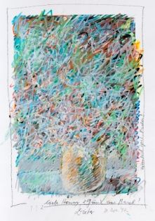 Dieter Roth, Übermaltes Blumenstillleben, Zuschlagspreis: je € 3.224,--