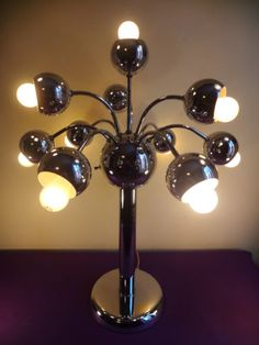 Vtg 60s 70s MCM Sonneman Regency Era 10 Arm Atomic Space Age Sputnik Chrome Lamp | eBay
