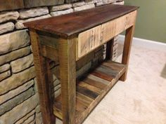End table made from an old door by KaboodleHome on Etsy