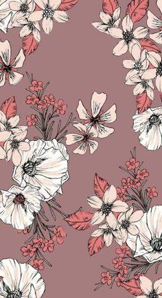 New Floral Pattern Wallpaper Tumblr Wallpaper, Nature Wallpaper, Screen Wallpaper, Mobile Wallpaper, Wallpaper Quotes, Landscape Wallpaper, Wallpaper Ideas, Black Floral Wallpaper, Floral Pattern Wallpaper