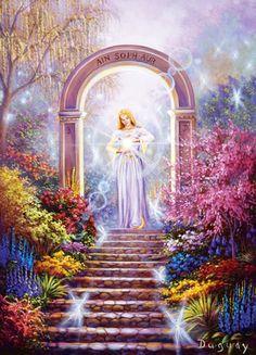 lumiere divine - Page 3 Fantasy Landscape, Fantasy Art, Art Visionnaire, Akiane Kramarik, Art Thomas, Saint Esprit, Bride Of Christ, Goddess Art, Mario