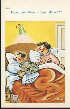 Humor Discover An original postcard in very good condition for its age. Please see large photos and description for details. Funny Cartoon Pictures, Cartoon Jokes, Funny Cartoons, Funny Comics, Cartoon Art, Jokes Images, Funny Images, Senior Humor, Satirical Illustrations