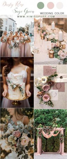 dusty rose and sage green wedding color ideas wedding weddings weddingcolors weddingideas pinkweddings greenweddings hmp 453034043766190774 Sage Green Wedding, Dusty Rose Wedding, Rose Wedding Bouquet, Spring Wedding, Dream Wedding, Wedding Day, Summer Wedding Themes, June Wedding Colors, Wedding Trends