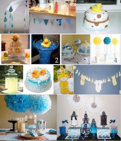 april showers themed baby shower | Inspiration Board: Rubber Ducky Shower
