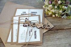 Kraft Wedding Invitation WE DO Wedding by MelindaWeddingDesign