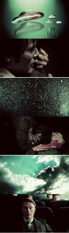 This is one of the most beautiful episodes they have. The story it tells, the constant tick tock in the background, it's beautiful. Hannibal Lecter, Hannibal Tv Series, Nbc Hannibal, Sir Anthony Hopkins, Best Cinematography, Film Inspiration, Kintsugi, Film Stills, Best Shows Ever