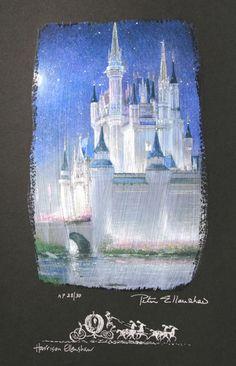 Cinderella Castle by Peter Ellenshaw