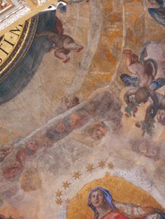 Ludovico Cardi called il Cigoli, Detail of the Virgin Mary and the Heavenly kingdom with nine angelic orders, 1610-1612, fresco painting, dome interior of the Pauline chapel at the basilica di Santa Maria Maggiore, Rome.