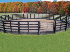 dimensions of a round pen for a horse - Google Search