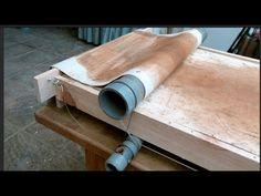 Elaboración paso a paso de una laminadora para arcilla a partir de un pallet de madera y tubos de PVC-U
