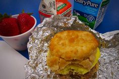 Provo School District in Utah served egg sandwiches on a biscuit.