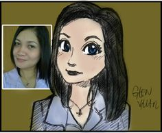 Cartoon style portrait