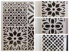 Pochoir Home déco mix 4 motifs Carreau ciment tous supports 30x30cm Artemio DIY