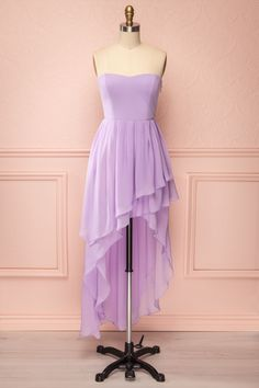 Fortuna - Strapless lilac high-low dress | Boutique 1861