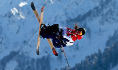 Slopestyle skier James 'Woodsy' Woods of Great Britain practises at Sochi's Rosa Khutor Mountain at the Winter Olympics. Romantic Poems, Romantic Places, Snowboarding, Skiing, Winter Olympics 2014, Riders On The Storm, Team Gb, Olympic Sports, Olympians