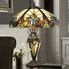 Stained Glass Halston Lamp from Seventh Avenue ®