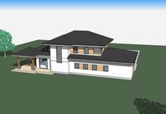 DOM.PL™ - Projekt domu ATS AT-154 CE - DOM UP2-11 - gotowy koszt budowy Home Building Design, Building A House, 2 Storey House Design, Villa, Cabin, House Styles, House Ideas, Home Decor, Architecture