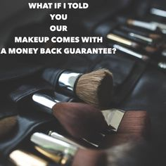 """Well guess what? It does!!! How many makeup lines do you know that -A.stand behind their products enough to offer a money back guarantee -B.list ALL their ingredients on each presenters site (you would be shocked at how many companies """"hide"""" their ingredients list.. RED FLAG people!!! -C.Offers FREE shipping on any orders over $100 -D.Very high quality, Currently the #1 cosmetics company. Just ask """"Siri""""."""