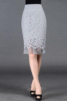 $59.99 Grey Lace Mesh Skirt
