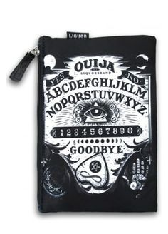I'm not entirely sure what this is, but it looks practical and it has the Ouija board on it, therefore it is awesome. Ouija, Moon Jewelry, Cat Jewelry, Pin Up Makeup, 50s Makeup, Crazy Makeup, Makeup Art, Rockabilly Makeup, Goth Accessories