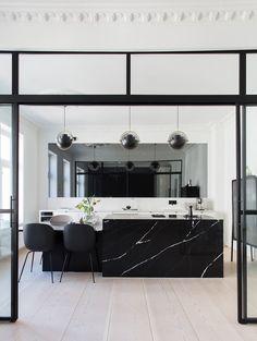 New kitchen at Norwegian inluencer - Lene Orvik - Everyday joy - Kitchen Decor Joy Kitchen, Home Decor Kitchen, Kitchen Interior, Comfortable Living Room Chairs, Suspension Design, Kitchen Pendants, Cuisines Design, Kitchen Flooring, Fixer Upper