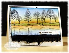Stamping for Sanity: blog has a video technique for this brayered sunset