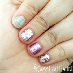 May SSE Floral Fusion, Aqua and clear stripe (TBT), Pixie  Order your Jamberry now at wrappinit.jamberry.com