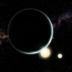 A study of circumbinary (orbiting two stars)  exoplanets found that the planets would have formed far from their current locations.