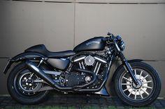CSC Harley-Davidson Sportster mit Remus Custom Exhaust Komplettanlage PowerCone, CSC Big Spoke Luftfilter mit Zulassung, verstellbare CSC Stummel und CSC Clutch Cover. Stand 01/12