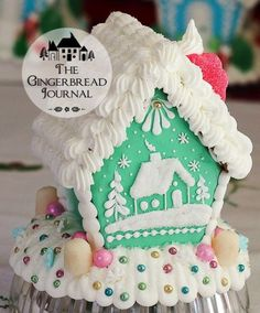 Gingerbread House C www.gingerbreadjournal.com-free pattern, recipes, and complete tutorial