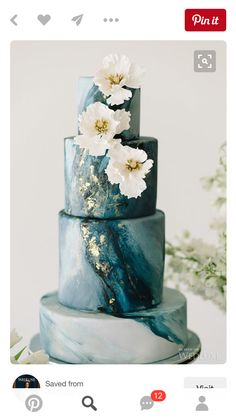 Marble Wedding Cakes for a Modern Bride.If you like a modern and elegant wedding decor then you will love these wedding cake decorated with marbleized fondant. Here's 11 marble wedding cakes that are perfect for a modern bride! Beautiful Wedding Cakes, Gorgeous Cakes, Pretty Cakes, Dream Wedding, Wedding Day, Trendy Wedding, Wedding Blog, Wedding Styles, Unique Wedding Cakes
