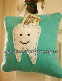 Teal Tooth Fairy Pillow