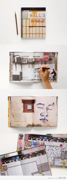 "So cool! Drawing on ""walls"""